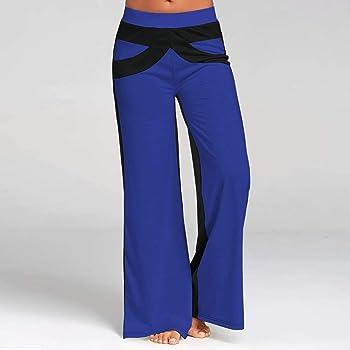Leggings Mujer Elegantes Mosstars Pantalones de Campana Remiendo ...