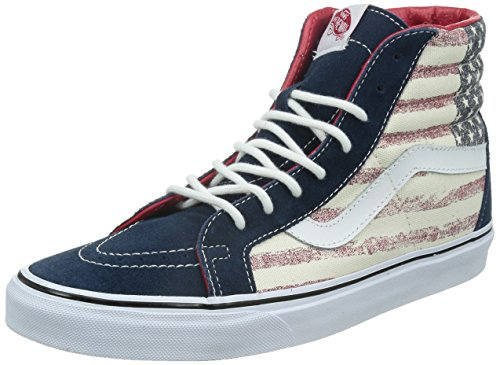 (Vans Unisex SK8-Hi Reissue Skate Shoes (M10, (Americana) Dress Blues))