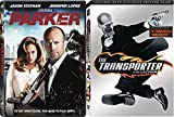 Jason Statham Collection Transporter 1 & 2 + Parker [DVD] 2 Pack Crime Action triple feature Movie Set