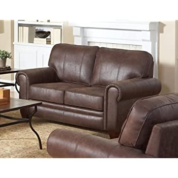 Coaster Home Furnishings 504202 Traditional Loveseat Brown