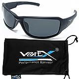 VertX Men's Polarized Sunglasses Sport Cycling Outdoor Free Microfiber Pouch – Matte Black Frame Smoke Lens
