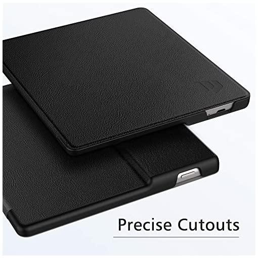 Dadanism Case Fits All-New Kindle Oasis 10th Generation 2019 Release / 9th Generation 2017 Release, Premium PU Leather Lightweight Shell Crushproof Cover with Auto Wake/Sleep – Black