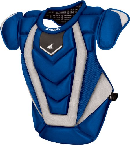Champro Youth Pro Plus Chest Protector (Royal, 15.5-Inch length) -