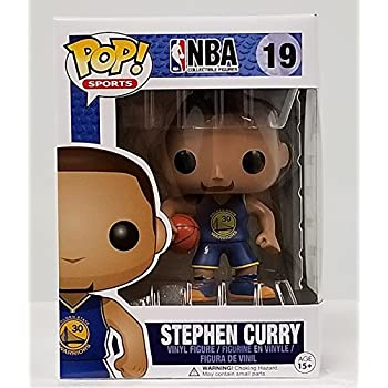 Amazon Com Funko Pop Nba Stephen Curry 19 Blue Jersey