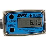 GPI TM050-N PVC Water Meter with LCD Readout (1/2in NPT 1 to 10 GPM) - TM050-N