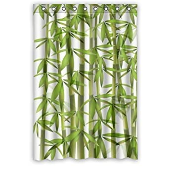 Amazon.com: Unique Fabric Bamboo Shower Curtain 48