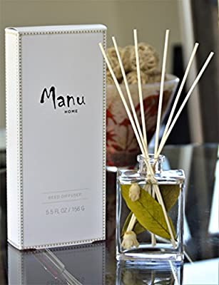 Manu Home White Tea Reed Diffuser Set - 5.5 oz + Natural Reed Diffuser Sticks