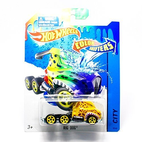 RIG DOG * COLOR SHIFTERS * 2015 Hot Wheels City Series 1:64 Scale Vehicle #10/48 (Hot Light Wheels)