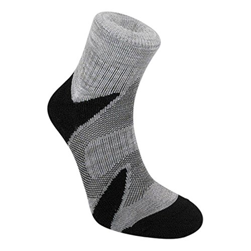 Bridgedale Men's CoolFusion Multisport Socks, Silver/Black, Large