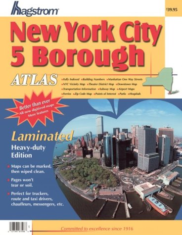 Map Of New York 2001.Hagstrom New York City 5 Borough Atlas Laminated Hagstrom New York
