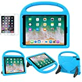 iPad 9.7 2018 2017 / Air 1/2 / Pro 9.7 Case for Kids - SUPLIK Duable Shockproof Protective Handle Bumper Stand Cover with Screen Protector for iPad 9.7 inch 5th/6th Generation, Blue