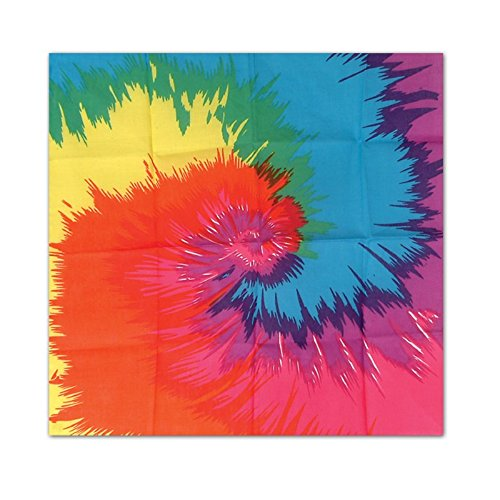 Club Pack of 12 Multi-Color Funky Tie-Dyed 60