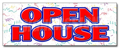 """Search : 12"""" OPEN HOUSE DECAL sticker for sale broker apartment home house real estate"""