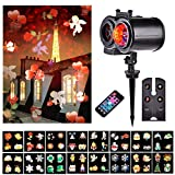 Christmas Decoration Projector, LTPAG 2-in-1 Rotating Projector Spotlight Snowflake Light - 16 Slides Snow Projector Light Outdoor Christmas Lights Xmas Proje