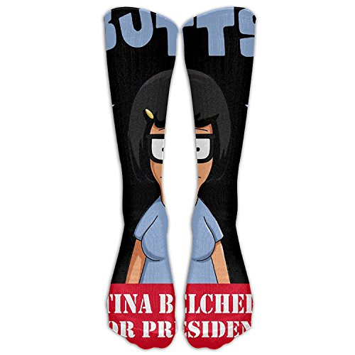 SADDFAWW Bob Tina Burgers Women Tube Knee Thigh High Stockings Cosplay Socks