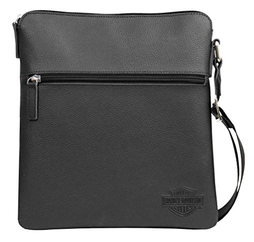 s Bar & Shield Leather Crossbody Bag, Black CC8174L-BLK ()