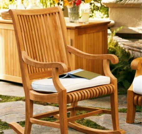 TeakStation Grade-A Teak Wood Outdoor Patio Garden Giva Rocker Rocking Arm Chair Model GV