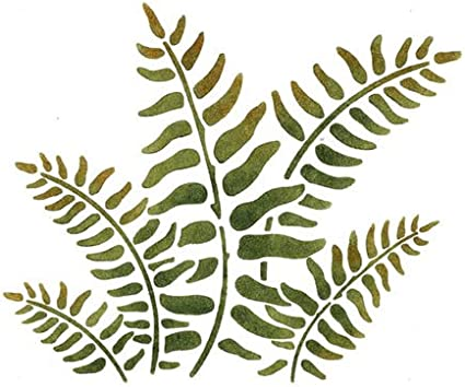 Fern Plant Leaves Stencil MYLAR A4 sheet strong reusable wall art craft deco