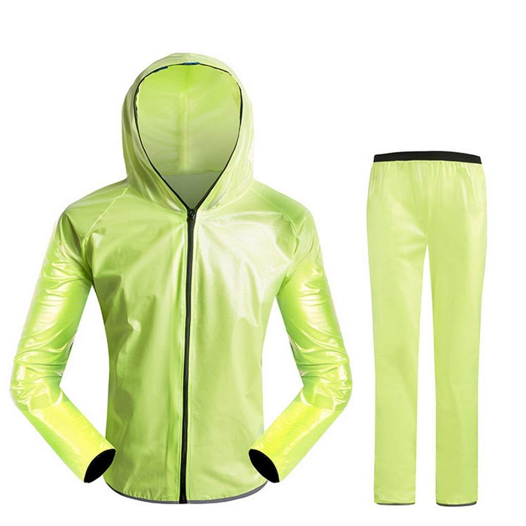 vert grand IAIZI Les hommes et les femmes chevauchant un ensemble imperméable fendu, une veste de pluie à capuchon imperméable pour adulte et un costume de pantalon, des vêteHommests de pluie résistants aux intempé