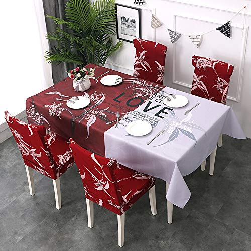 Picnic Home Decoration European Cotton and Linen City Chair Cover 4 Packs,Great for Buffet Table, Parties, Holiday Dinner ()