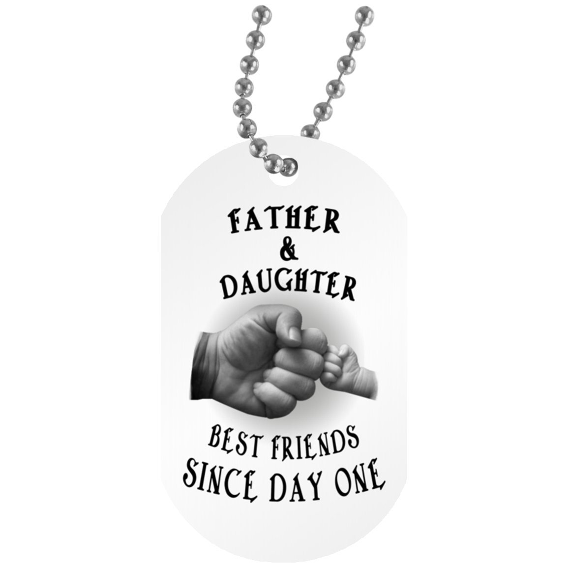 eConvenience Store Daughter Dog Tag From Dad - Motivational Gift for Teen Girls - Unique Birthday Gift Military Inspired Aluminum Dog Tag 30 Inch CustomCat