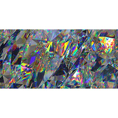 Laeacco Abstract Crystal Background 15x8ft Rainbow Texture Vinyl Photography Backdrop Faceted Gem Prismatic Geometry Design Sparkle Diamond Birthday Party Banner Decor Studio Photo Shoot ()