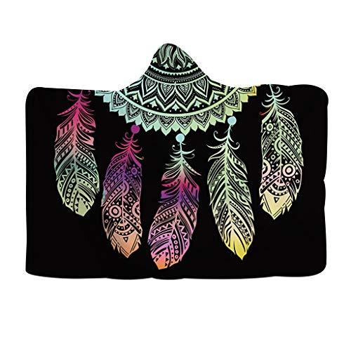 HYIRI Sun Bandana Soft Wearable Wrap Hooded Blanket Winter Warm Plush Cloak Shawl For Adult Kids
