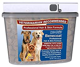 Value Size Benecoat Fish Oil for Dogs with Krill Oil, EPA, DHA, Collagen, MSM and Zinc Picolinate | 180ct