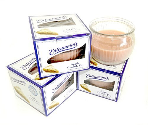 Pie Scented Glass - Entenmann's 3 pack 3oz Glass Jar Scented Candle Apple Crumb Pie Flavor Aromatherapy