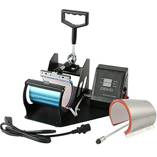 TC-Home 2 in 1 Sublimation Cup Mug Heat Transfer Press Machine Automatic Digital Timer (Heat Press Machine, Coffee Cup Sublimation Transfer 2 in 1)
