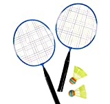 Jewels Fashion BLUE BADMINTON SET-Includes 2Paddles& 2Shuttlecocks-Requires NO Net-Perfect Over Short Distances, Beginners & The Whole Family As Well As For The Beach, Park Or Backyard