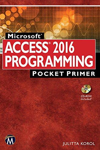 ACCESS 2016  PROGRAMMING Pocket Primer (Ms Access Book)