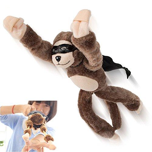 Careshine Novelty Flingshot Monkey Slingshot Flying Stuffed Screaming Monkey Funny Toy for Kids Funny Flying Flingshot Slingshot Monkey Plush Toys Screaming Surprise Toy
