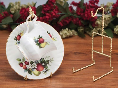 Teacup Display Racks-Set of 3-Brass Plated