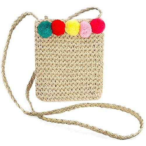 Crochet Shoulder Bow Out Purse Lace Hollow Handbag Bag Sling Cute Women Straw Straw Abuyall Pt10 Summer Beach tqxX6X