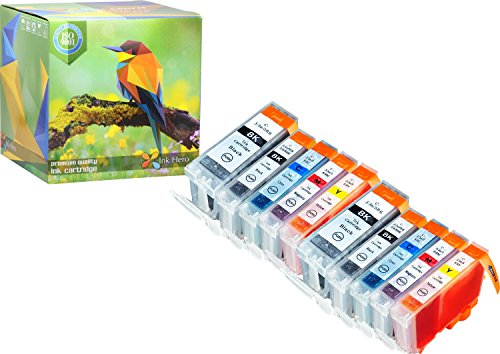 Ink Hero 10 Pack Ink Cartridges for BCI-3 BCI-6 Pixma iP4000R iP5000 MP750 MP760 MP780 Printer Inks for Inkjet Printers