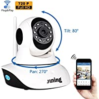 IP Camera Security Cameras Wifi Wireless 720P HD Pan Tilt-JUNING C25 (Day/Night Vision,baby monitor,2 Way Audio,SD Card Slot, Alarm)