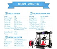 3D Printers, GUCOCO A8-Y8 Pro Acrylic High Precision LCD Screen Desktop DIY 3D Printer Printing Machine Kit with Free 1.75mm ABS/PLA Printer Filament(Build Size 220×220×240mm) from CTC