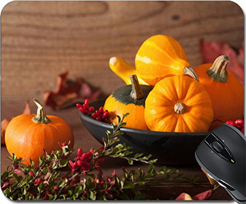 MSD Natural Rubber Mousepad Mouse Pads/Mat design: 31127573 decorative pumpkins and autumn leaves for halloween