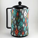 la cafetiere 12 cup - French Press Cozy 12 Cup, Coral Teal