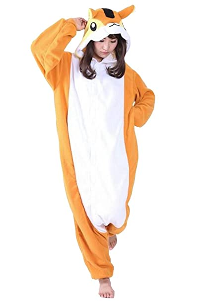 Samgu Unisexo Adulto Onesie Ardilla Kigurumi Pijama: Amazon.es: Ropa y accesorios