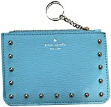Kate Spade New York Sanders Place Bitsy Card Case Wallet Key Ring Blue
