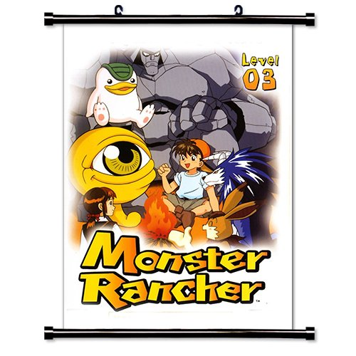 Monster Rancher Anime Fabric Wall Scroll Poster  Inches.-Mon