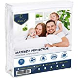 Ruili King Size Premium Hypoallergenic Waterproof Mattress Protector, Dust Mite Proof, Insect Prevention and Super Soft Mattress Protector Bed Cover - Vinyl Free