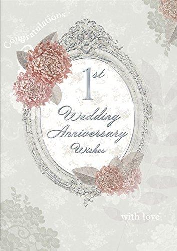 Anniversario Di Matrimonio Un Anno.Gold Gold Oro Primo Anniversario Di Matrimonio Biglietto D