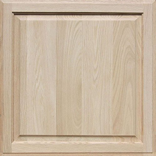 Unfinished Oak Cabinet Door, Square with Raised Panel by Kendor 24H x 24W (Flat Panel Cabinet Doors)