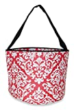 Ever Moda Damask Caddy Basket Organizer (Coral Pink)