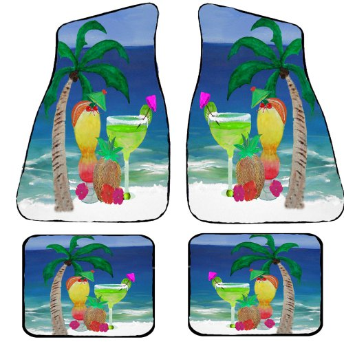Tropical Beach Drinks Auto Car Floor Mats (Full Set of 4) (Full set of 4) by xmarc (Image #1)