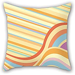 PILLO Colorful Geometry Throw Pillow Covers 18 X 18 Inches / 45 By 45 Cm For Her,deck Chair,coffee House,floor,kids,saloon With Double Sides