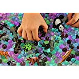 Dew Drops Water Beads Jungle Excursion Tactile Sensory Bin Kit - Rain Forest Toy Animals Included